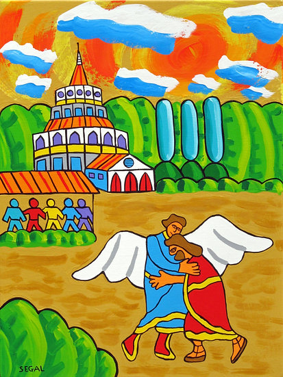 Jacob Wrestling the Angel in Paradise Garden - Mike Segal
