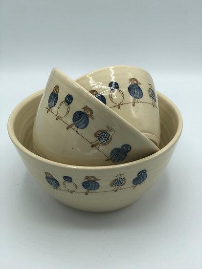"Birds on a Wire ""Nesting"" Bowls - Cindy Barnett"