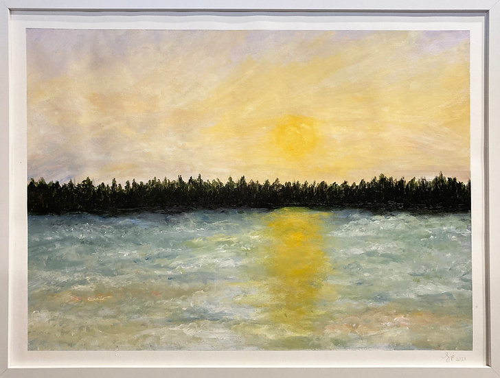 Sunset on the Lake - Lizzi Polly
