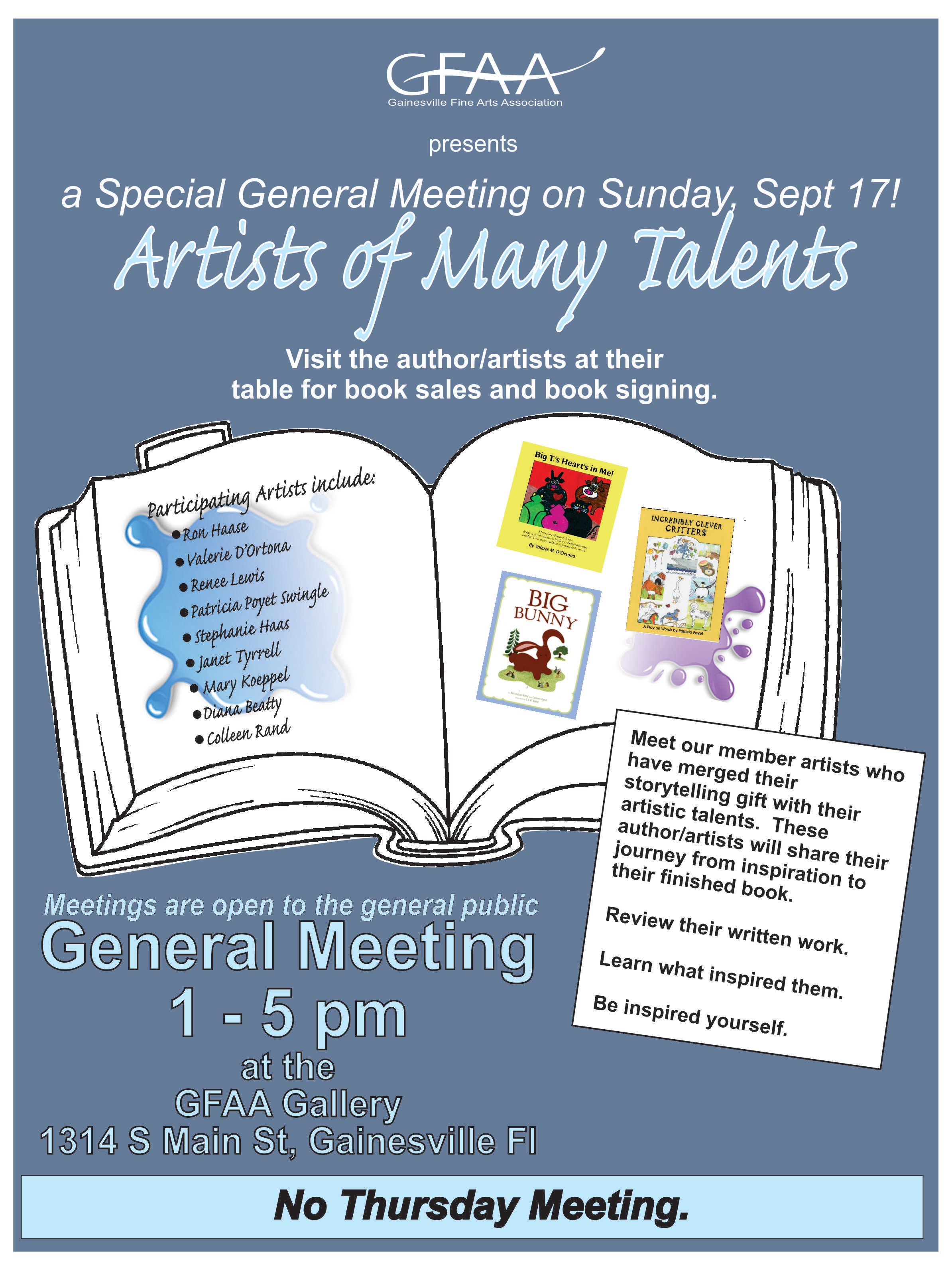 Art of Many Talents Meeting Sept 2017