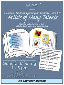 Art of Many Talents Meeting Sept 2017