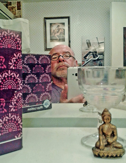 Self Portrait in a Bathroom Mirror - Michael Mills