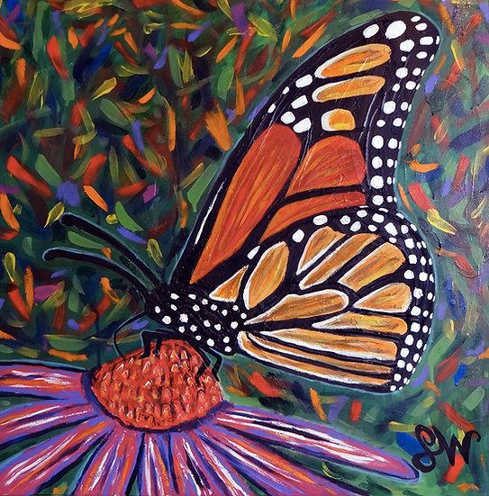 Monarch on Echinacea - Samm Wehman Epstein