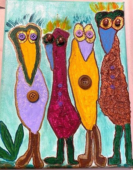 Unique Bird Family -Marilyn Mesh