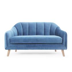 Blue Sofa Isolated on White