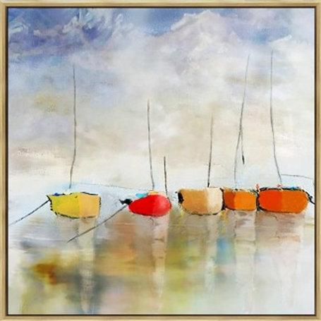 Harbor - 100% Hand-painted art