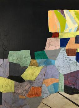 quilt, panel wall, ikea light, threads