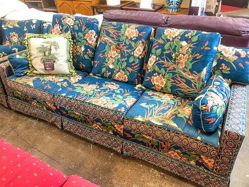 Large Floral Sofa