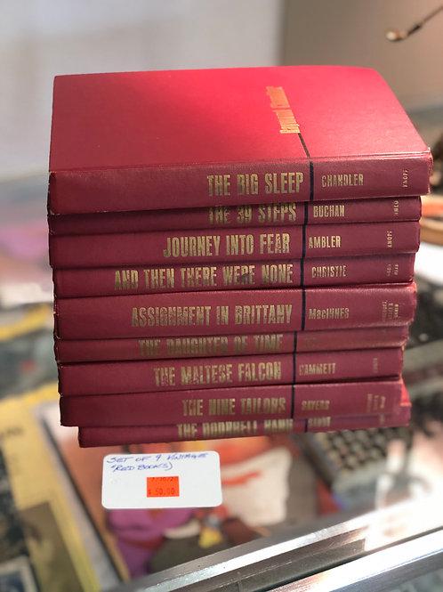 Vintage Red Books, Set of 9