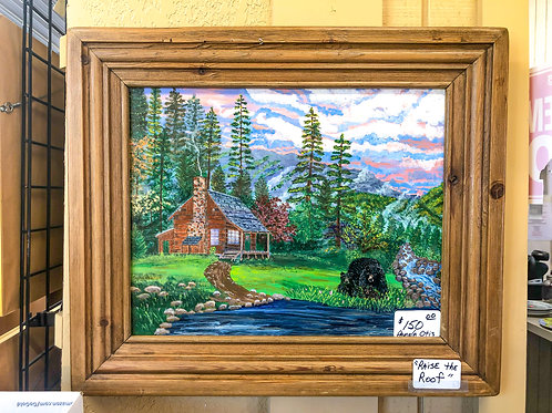 Bears by the Lake in Rabun Painting