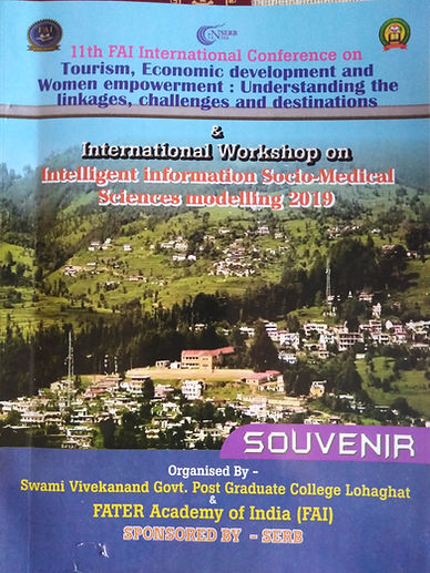 """11th FAI International Conference on  """"Tourism, Economic development and Women empowerment: Understanding the linkages, challenges and destinations & International Workshop on Intelligent information Socio-Medical Sciences modelling"""""""