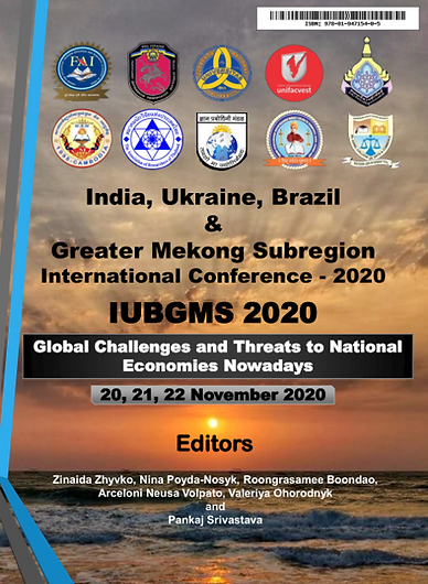 """VOL 3i & 3ii (ISBN: 978-81-947154-0-5) India, Ukraine, Brazil & Greater Mekong Sub-region International Conference -2020 IUBGMS 2020  """"Global Challenges and Threats to National Economies Nowadays"""""""