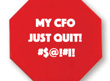 OMG - My CFO Just Quit!