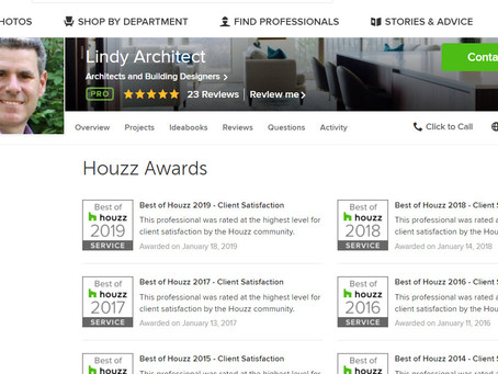 Lindy Architect wins Best of Houzz 2019