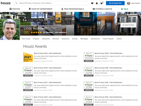 """Lindy Architect wins """"Best of Houzz"""" for the 8th year in a row!"""