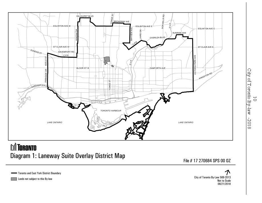 Laneway Housing - By law map
