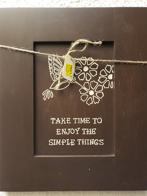 Take time to enjoy the simple things