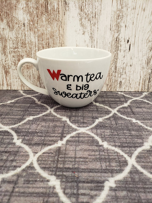 Warm tea & Big Sweaters mug