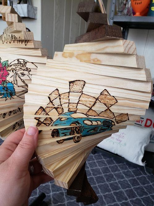 Race Car Wood Spinner