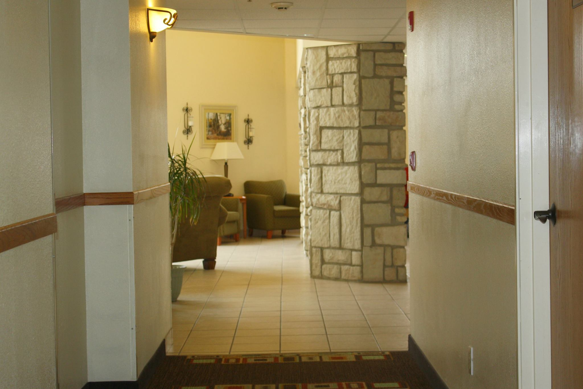Hallway to common area