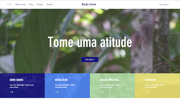 Eventos website templates – ONG ambiental