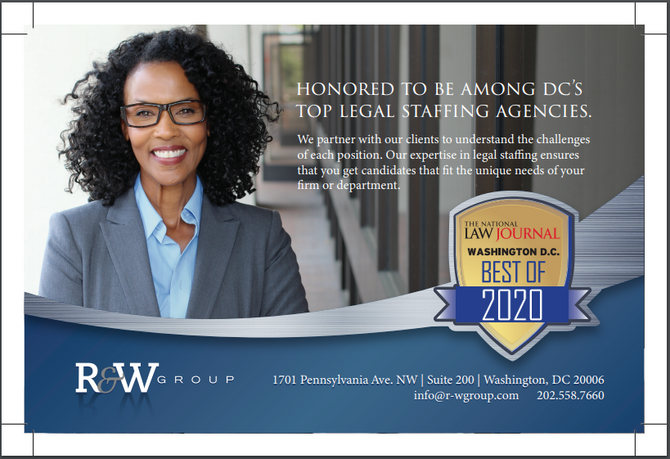 R&W Group Named One of DC's Top Staffing Agencies!
