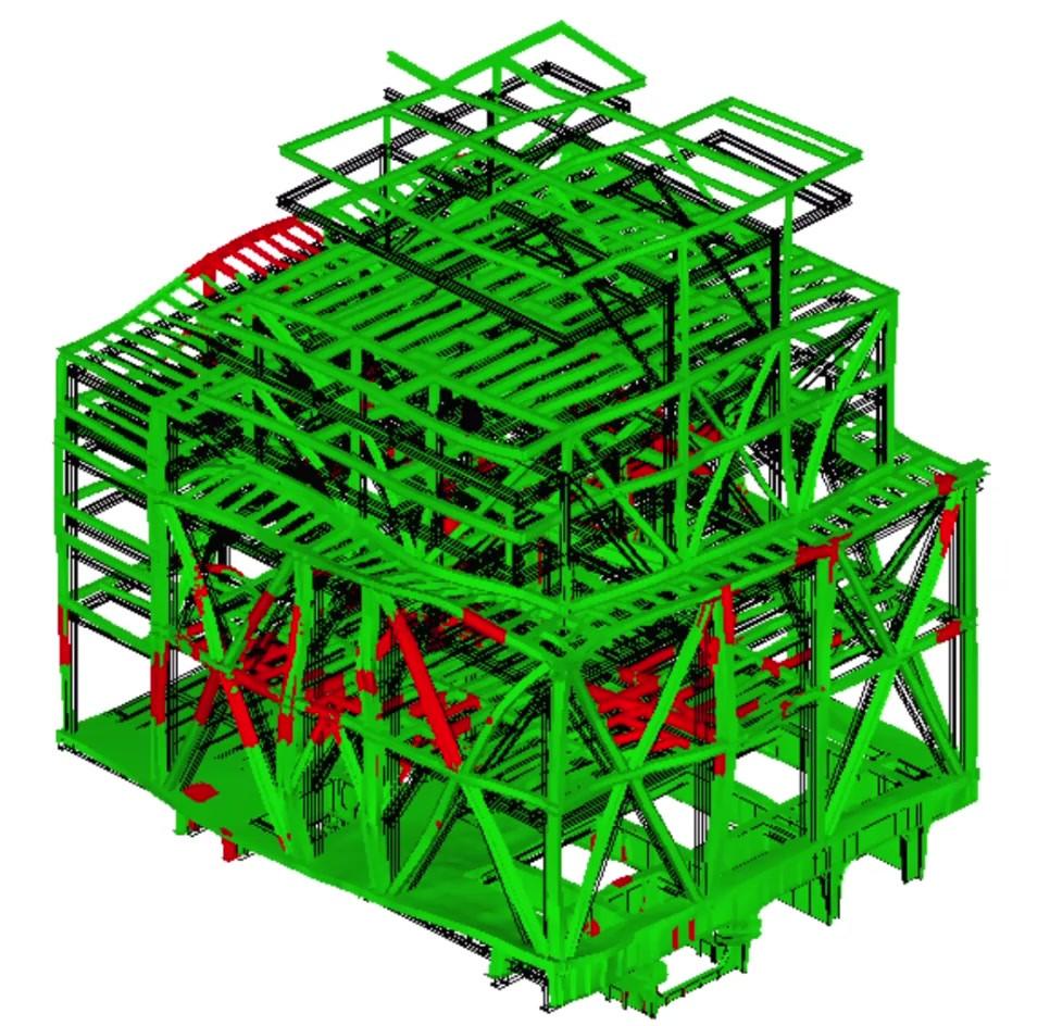 Structure deformation under fire