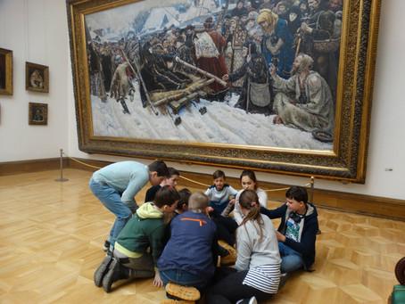 Юновцы в Третьяковской галерее
