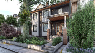 3D Exterior Rendering of Single Family Home