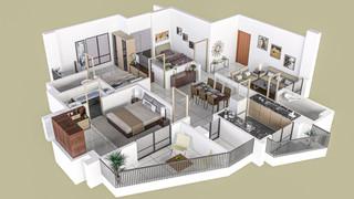 3D Floor Plan Rendering