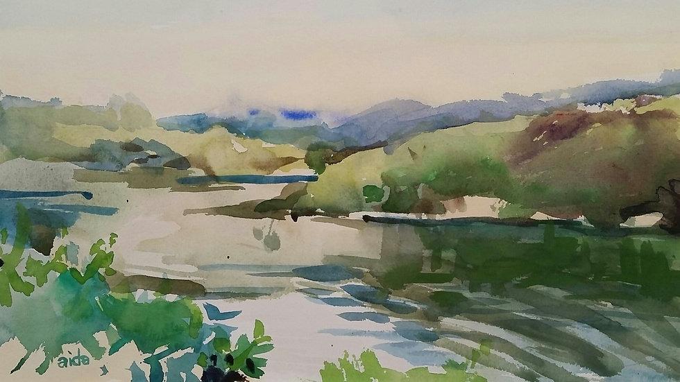 Green Space the River by Aida Birritteri