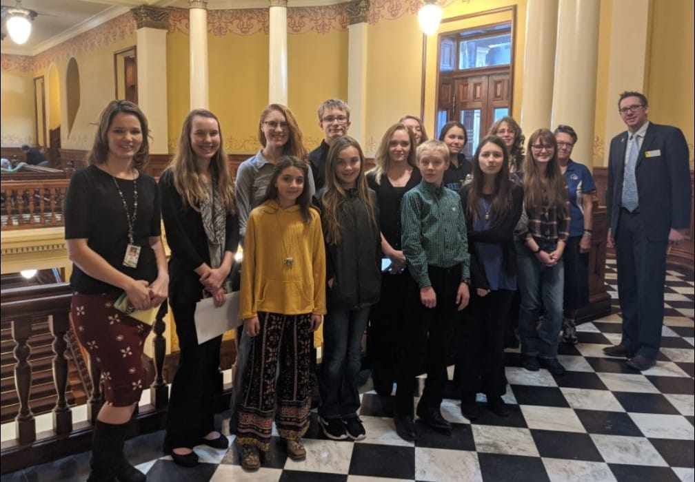 Rep Olsen with Students at Capitol