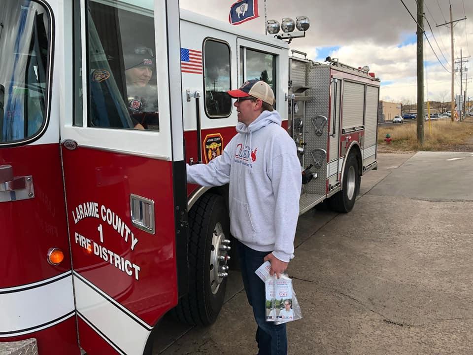 Rep Olsen meeting Laramie County Fire & Rescue