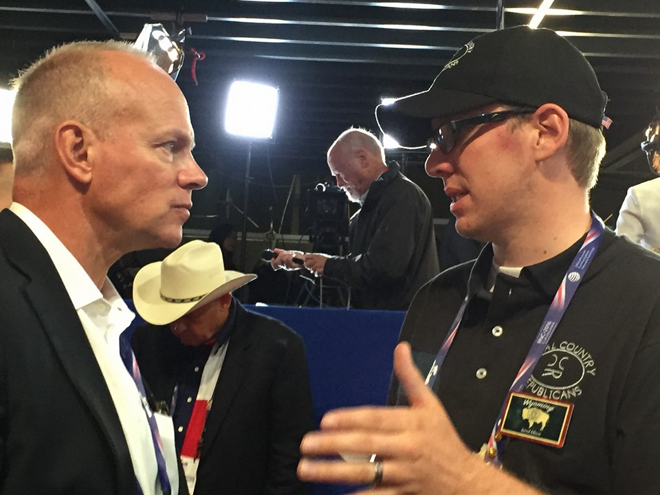 Rep Olsen and Governor Mead in Cleveland at Republican National Convention