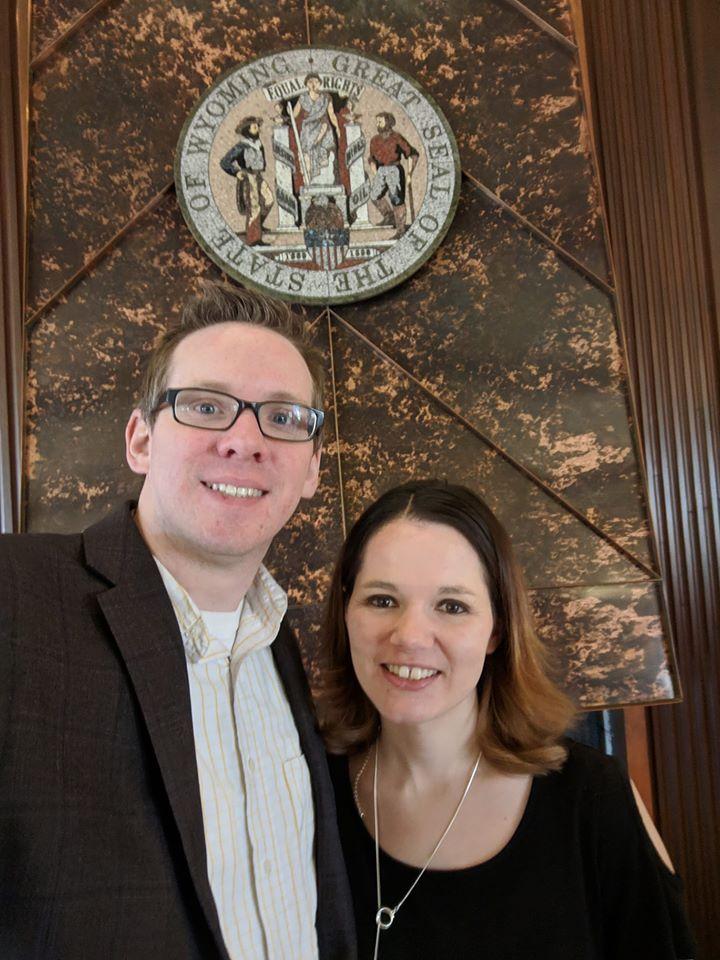 Rep Olsen and Mrs. Olsen at Governors Residence