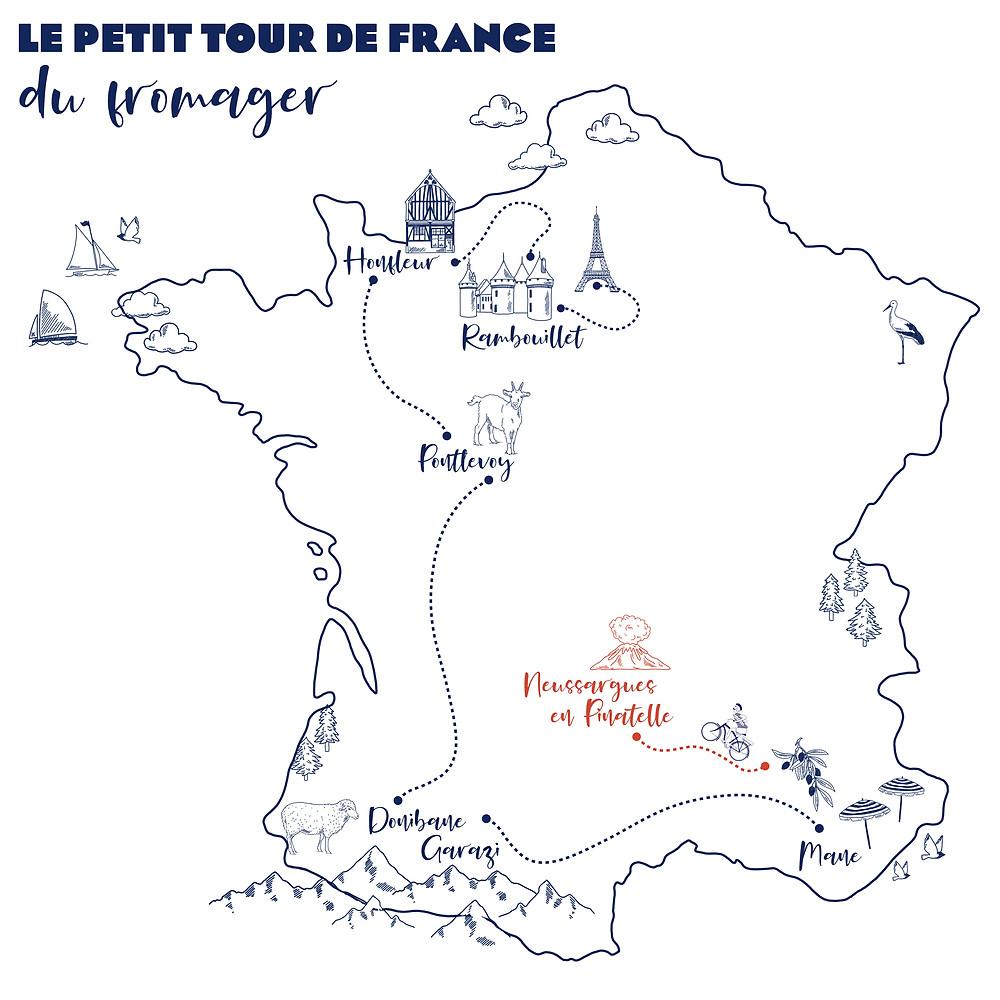 Petit tour de France du fromager Honfleur