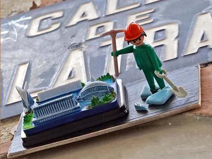 Arte urbano y Playmobils en las calles del centro de Valencia.