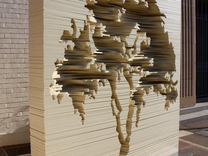 Los libros-escultura de Kylie Stillman.