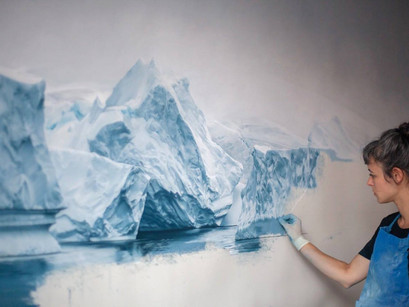 Zaria Forman: arte glaciar contra el cambio climático.