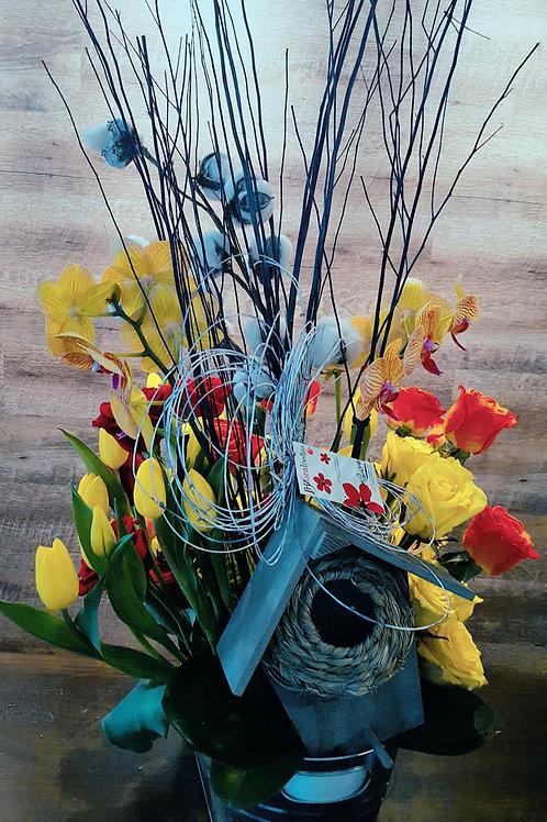 PRE-ORDER | Mother's Day Spring Garden Bird House
