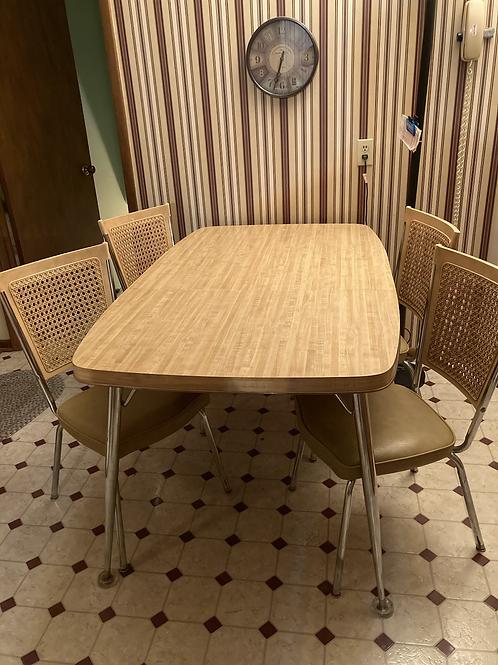 Semi modern chrome legged dinette set