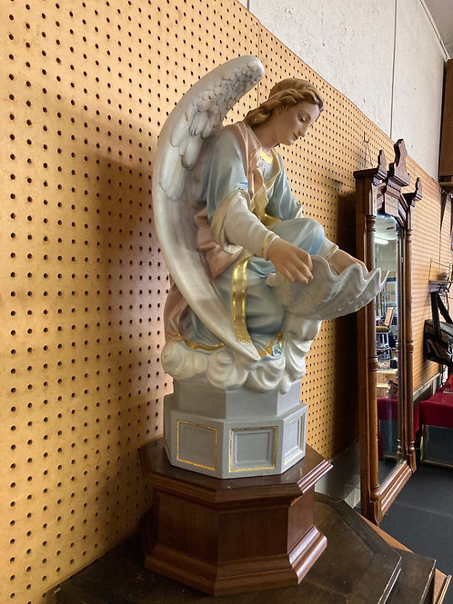 Fantastic restored Guardian Angel holy water statue
