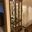 Thumbnail: Lighted curio cabinet with beveled glass doors