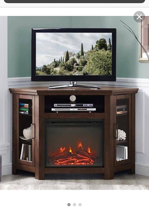 New condition corner combination electric fireplace TV stand