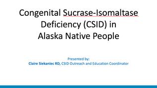Siekaniec-Congenital Sucrase Isomaltase
