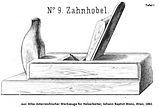 Zahnhobel nr9 tafel 1