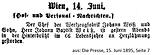 Johann B. Weiß Todesanzeige Die Presse 1895