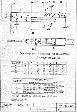 01 Schropphobel Originalzeichnung 1950