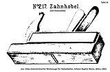 Zahnhobel nr 217 tafel11