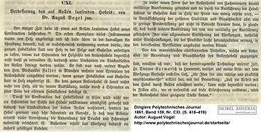 Rollenhobel Artikel Dingler 1861